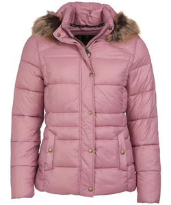 Barbour Quilt-Ullswater-Ladies Hooded Jacket-Pink-LQU1081PI32 PINK