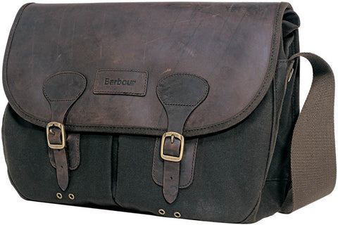 Barbour Briefcase in Olive Wax with leather trim UBA0004OL711