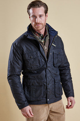 Barbour Winter Utility wax jacket in Navy MWX0903NY92