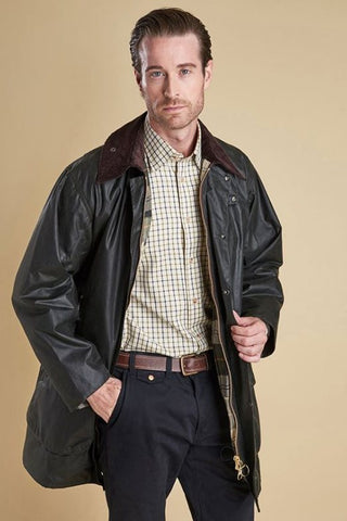 Barbour Border-Mens Wax Jacket - Sage/green MWX0008SG91
