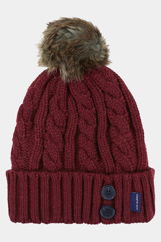 Jack Murphy Blessington Bobble Hat - Winter Burgundy - 026702 - Front Flat