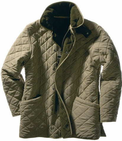 Barbour Microfibre Polarquilt Mens Quilt Jacket in Light Olive Green