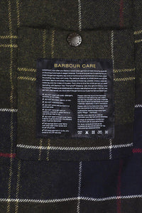 Barbour Ogston Wax Jacket - Olive - MWX0700OL51 - Care Label & Lining Detail