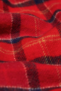 Barbour Tartan Lambswool Scarf - Red Cardinal - USC0001TN12 - Check Detail