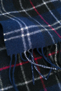 Barbour Tartan Lambswool Scarf - Navy/Red - USC0001NY11 - Check Detail