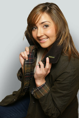 ee23c3fcb46 ... BARBOUR CLASSIC BEADNELL - LADIES WAX JACKET - OLIVE GREEN -  LWX0668OL71 - Front Detail