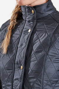 BARBOUR CAVALRY POLARQUILT - NAVY - LQU0087NY91 - Collar Closed Detail