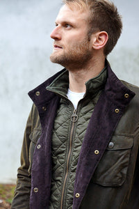 Barbour Ogston Wax Jacket - Olive - MWX0700OL51 - Front Detail Opened