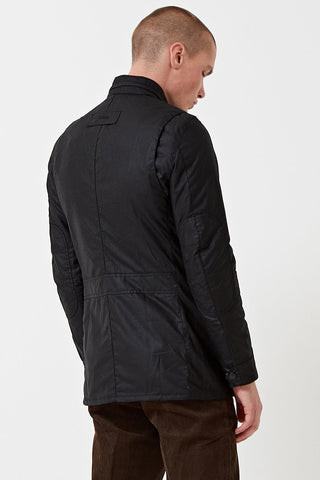 BARBOUR CORBRIDGE WAX JACKET - BLACK - MWX0340BK91 - Modelled Back View