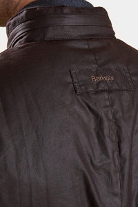BARBOUR CORBRIDGE WAX JACKET - RUSTIC BROWN - MWX0340RU91 - Back Detail