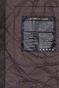 BARBOUR CORBRIDGE WAX JACKET - RUSTIC BROWN - MWX0340RU91 - Lining & Care Label Detail