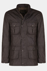 BARBOUR CORBRIDGE WAX JACKET - RUSTIC BROWN - MWX0340RU91 - Flat