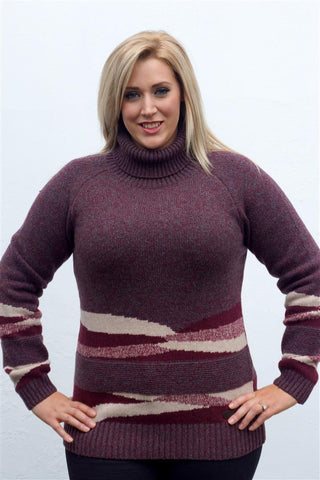 Barbour Grenlaw Ladies Lambswool Sweater in Rosewood wow