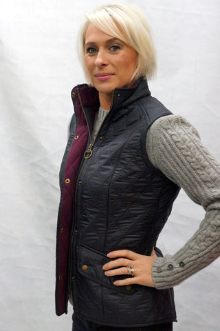 Barbour Cavalry ladies gilet in Navy LQU0458NY71