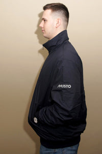 Musto Snug Blouson Jacket-True Navy/Cinder-MJ11009 arm
