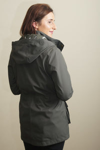 Barbour Stoat-Ladies Waterproof Jacket-Olive Green-LWB0532OL51 back