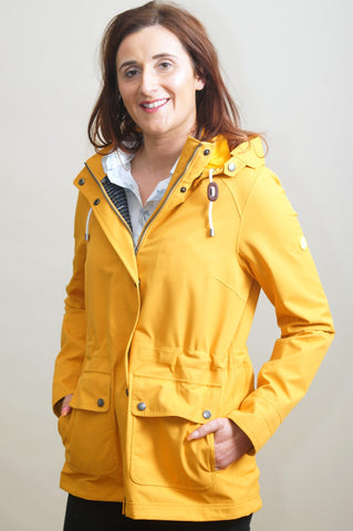 Barbour Hawkins-New Ladies Waterproof-Yellow-LWB0454YE51 new