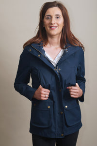 Barbour Stoat-Ladies Waterproof Jacket-Navy- LWB0532NY51 pockets