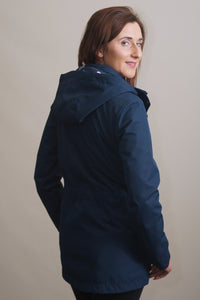 Barbour Stoat-Ladies Waterproof Jacket-Navy- LWB0532NY51 back