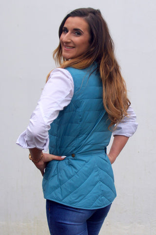 ladies blue gilet