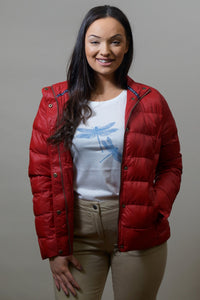 Barbour Gondola Ladies Quilted Jacket - Chilli Red- LQU0970RE61 smile