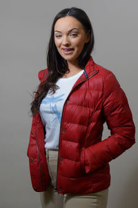 Barbour Gondola Ladies Quilted Jacket - Chilli Red- LQU0970RE61 front