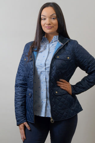 Barbour Bowfell-Ladies Quilt-Navy-LQU1028NY71 arm