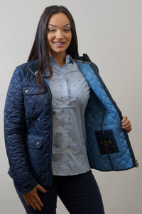Barbour Bowfell-Ladies Quilt-Navy-LQU1028NY71 bust