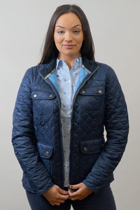 Barbour Bowfell-Ladies Quilt-Navy-LQU1028NY71 open