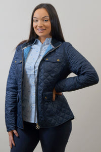Barbour Bowfell-Ladies Quilt-Navy-LQU1028NY71 side