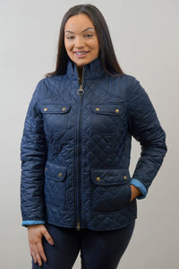 Barbour Bowfell-Ladies Quilt-Navy-LQU1028NY71 closed