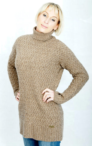 Barbour Darlees Sweater in Bark Colour for Ladies