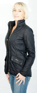 Barbour Cavalry Ladies Black Polarquilt Jacket side view
