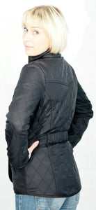 Barbour Cavalry Ladies Black Polarquilt Jacket back view