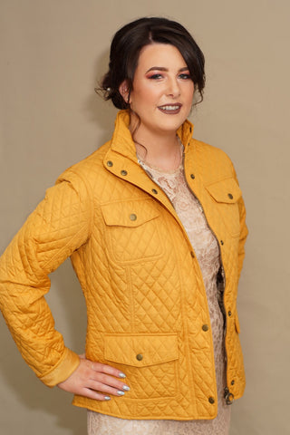 Barbour Kailzie ladies quilt in canary yellow LQU0707YE71
