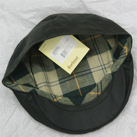 Barbour Sage Green Waxed Cotton Cap