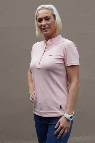 Barbour Stable ladies Polo shirt in Light Pink LML0335PI33
