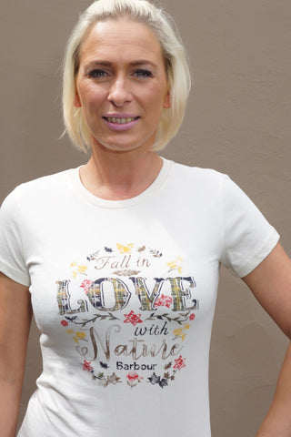 Barbour sale Ladies T-Shirt Love Nature in Cream