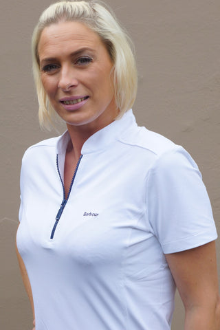 Barbour Sale Stable ladies Polo shirt in White
