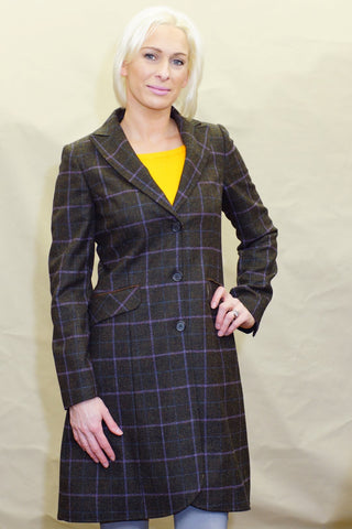 Barbour Darwen Ladies Long Tailored Tweed coat LTA0098OL92