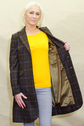 Barbour Darwen Ladies Long Tailored Tweed jacket LTA0098OL92