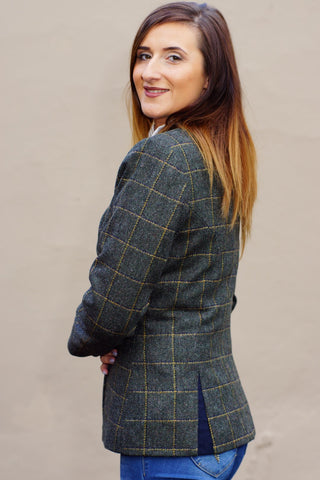 Jack Murphy Tweed Jacket in Country Green Check JAC694CG