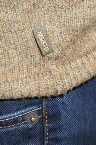 Musto Crew Neck mens sweater in  Grouse CS0470