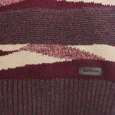 Barbour Grenlaw ladies lambswool sweater in Rosewood logo