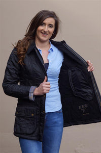 Barbour Beadnell Ladies  Polarquilt Jacket in Black LQU0471