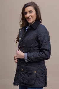 Barbour Beadnell Ladies Polarquilt Jacket in Black LQU0471BK91