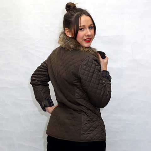 Jack Murphy Lulu Ladies Quilted Jacket in Heritage Brown back