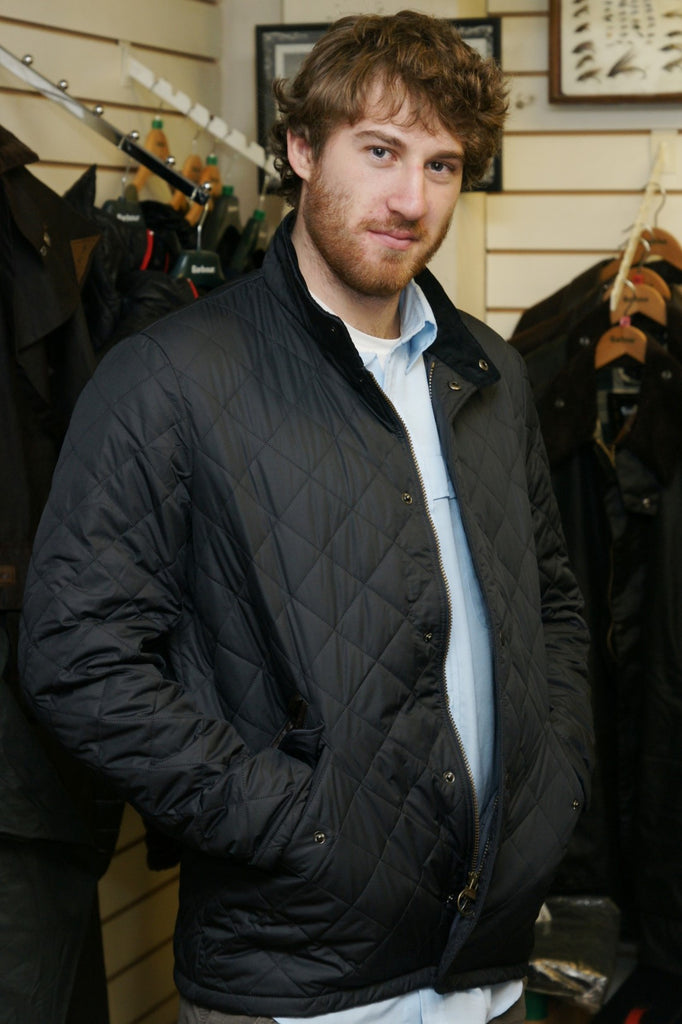 Buy Your Barbour Chelsea Mens Sportsquilt Jacket In Navy From Smyths