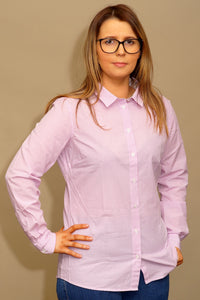 Barbour Dorset-Ladies Shirt-Pink/White Stripe-LSH1231PI14