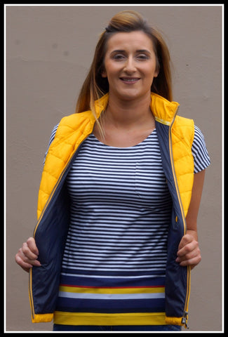 Barbour Harewood New Striped Top in Yellow LML0462YE71